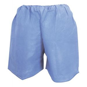 PATIENT EXAM SHORTS, ADULT BLUE DISPOSABLE