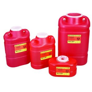 MULTI-PURPOSE SHARPS CONTAINER, FUNNEL LID