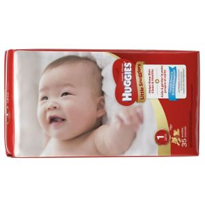 BABY DIAPER HUGGIES® LITTLE SNUGGLERS TAB CLOSURE, DISPOSABLE HEAVY ABSORBENCY