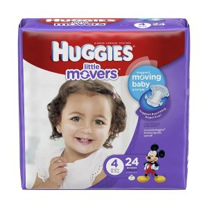 BABY DIAPER HUGGIES® LITTLE MOVERS TAB CLOSURE, DISPOSABLE HEAVY ABSORBENCY