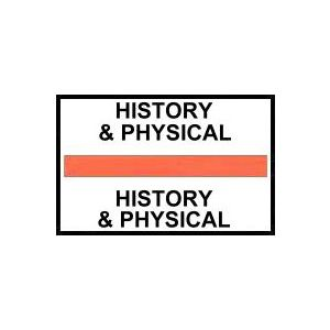 HISTORY/PHYSICAL ORNAGE INDEX TABS 100/PK