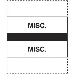 MISCELLANEOUS BLACK INDEX TABS 100/PK