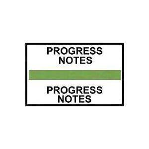PROGRESS NOTES GREEN INDEX TABS 100/PK