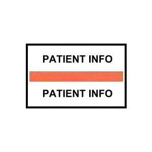 INDEX TAB 'PATIENT INFO' 100 LABELS/PK