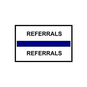REFERRALS BLUE INDEX TABS 100/PK
