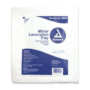 MINOR LACERATION TRAY W/ INSTRUMENTS