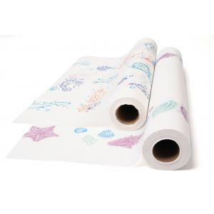 PEDIATRIC EXAM TABLE PAPER, FISHTAILS PRINT