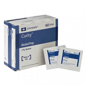 CURITY ALCOHOL PREP PAD, ISOPROPYL ALCOHOL, MEDIUM STERILE