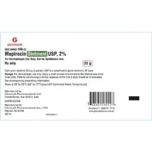 MUPIROCIN 2% TOPICAL OINTMENT TUBE 22 GRAM