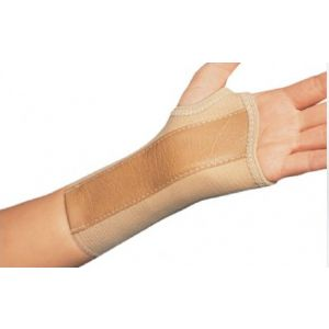 WRIST SPLINT, COTTON / ELASTIC LEFT HAND, BEIGE