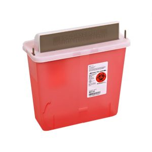 MAILBOX  STYLE SHARPS CONTAINER, 5 qt.