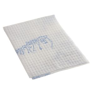 TOES PROCEDURE TOWEL, BLUE/WHITE NON-STERILE