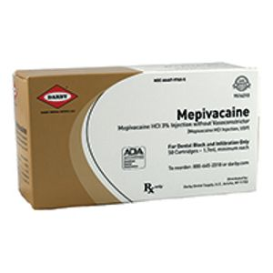 MEPIVICAINE HCL 3% PLAIN SUPERDENT, (50/BX)
