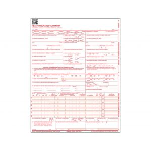 HIPPA CMS-1500 FORM SINGLE SHEET HEALTH INSURANCE CLAIM