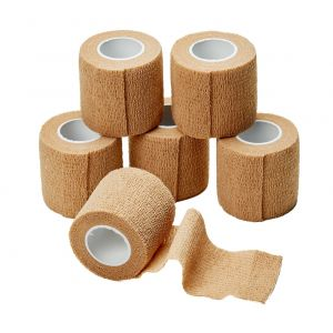 TAN COHESIVE BANDAGES, NON-STERILE