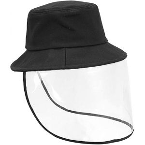 SAFETY FACE SHIELD ANTI-SALIVA PROTECTIVE HAT, COVER DUST PROOF OUTDOOR-BLACK