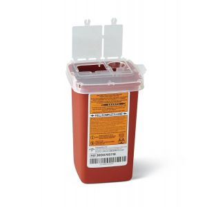 PHLEBOTOMY SHARPS CONTAINER, 1qt.