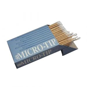 """MICRO-TIP SWABSTICK, COTTON TIP WOOD SHAFT 6"""" NON-STERILE"""