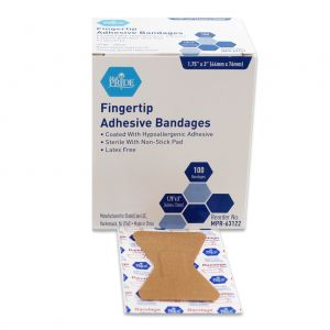 FABRIC FINGERTIP ADHESIVE BANDAGES, STERILE