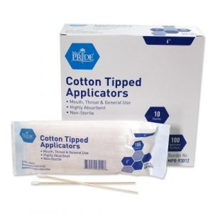 COTTON TIP APPLICATOR NON-STERILE, 6""