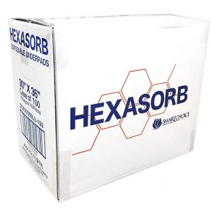 "HEXASORB PLUS ABSORBENT UNDERPADS 30""X 36"" TAPED, BLUE DISPOSABLE"