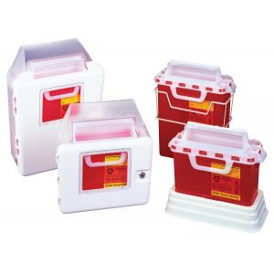 MULTI-PURPOSE SHARPS CONTAINER, 5qt. HORIZONTAL ENTRY LID