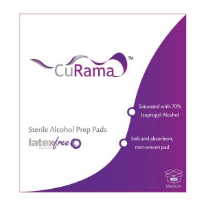 ALCOHOL PREP PADS, MEDIUM STERILE, CURAMA, (200/BX)