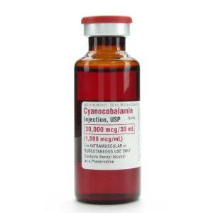 VITAMIN B-12 CYANOCOBALAMIN INJECTION MULTIPLE DOSE VIAL, 30 ML