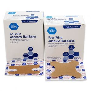 FABRIC KNUCKLE ADHESIVE BANDAGES, STERILE
