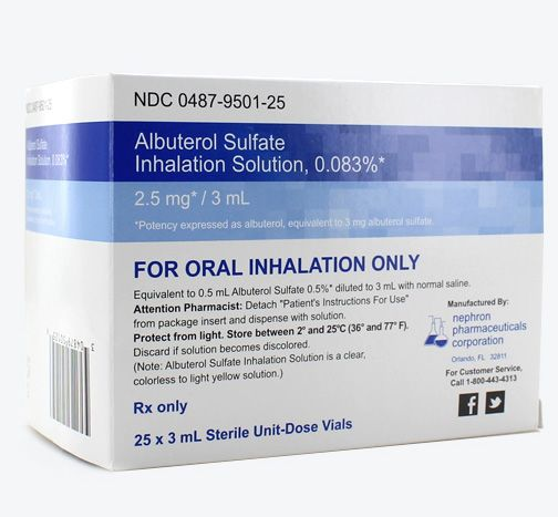 Albuterol Sulfate 0 083 Inhalation Solution Nebulizer Vial